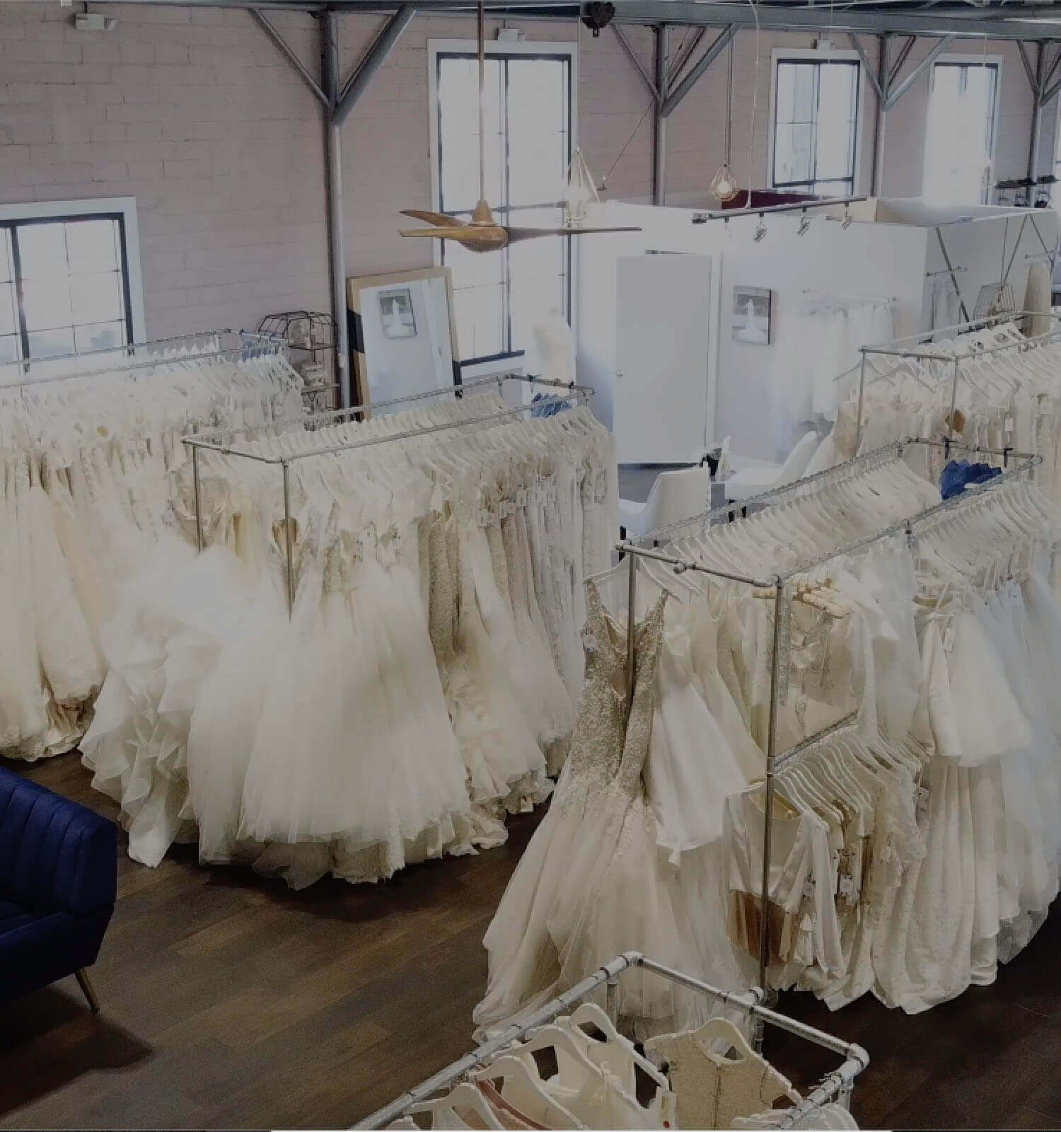 Something Blue store overview. Wedding Dresses. Mobile Image